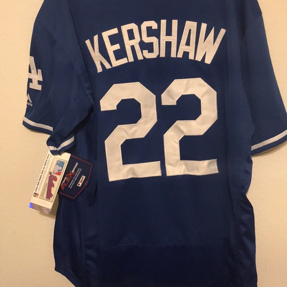 new concept 2ff26 309d8 Clayton kershaw LA Dodgers blue majestic Jersey NWT